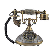 Retro Design Vintage Decor Home Phones Red Corded Telephone Set For Wedding Gift