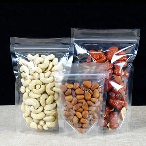 PET/PE Ziplock Plastic Clear Nut Package Dry Food Grade Bags, Clear Self Standing Pouch Bag/