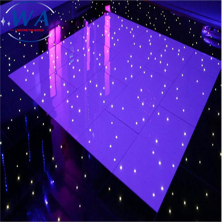 Party wedding decoration light up white star dance floor mat starlit lighted led dance floor