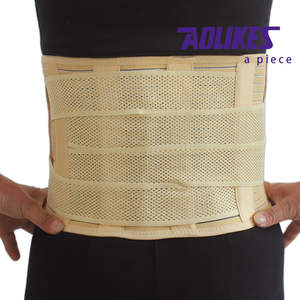 Elastic steel plate waist band support back brace