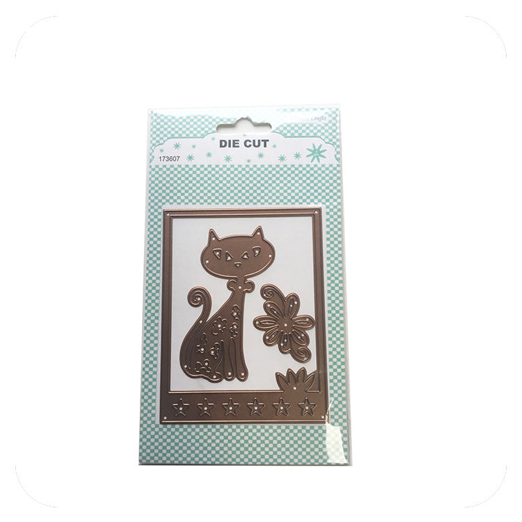 Metal Scrapbooking Cutting Dies for Crafts Paper Scrapbooking Metal Embossing Animal Cat Diy Crafts Cutting Dies for Felt