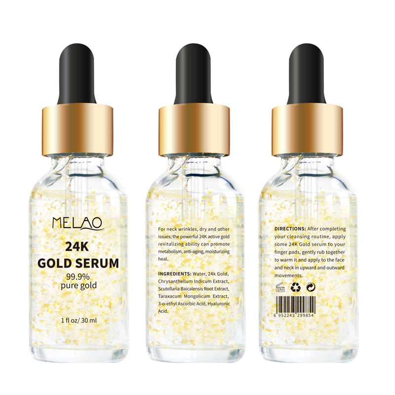 OEM/ODM /Private label MELAO 24K Gold collagen Serum for Anti Aging Anti Wrinkle