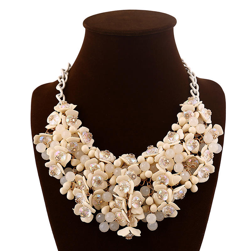 2018 new arrival popular top selling fashion statement necklace in good price