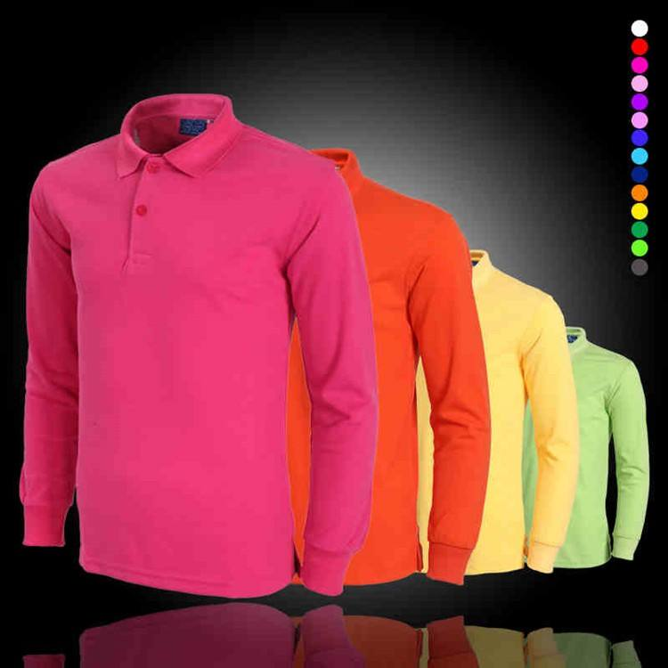 Men t shirt style high quality customer polo shirt with long sleeve