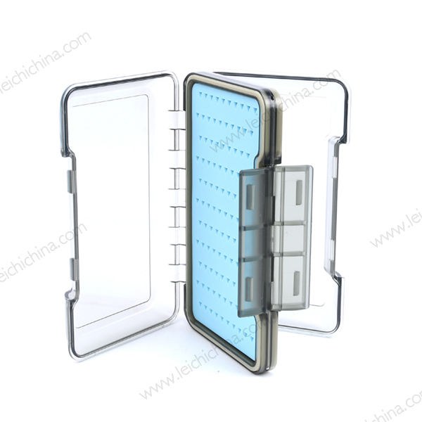 New silicone insert wholesale plastic fly fishing box