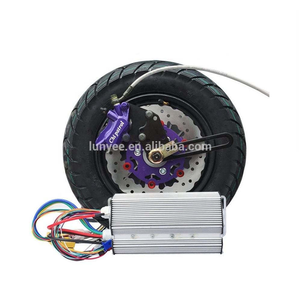 72v 3000w 80km/h fast speed Electric Motorcycle Hub Motor Wheel Kit
