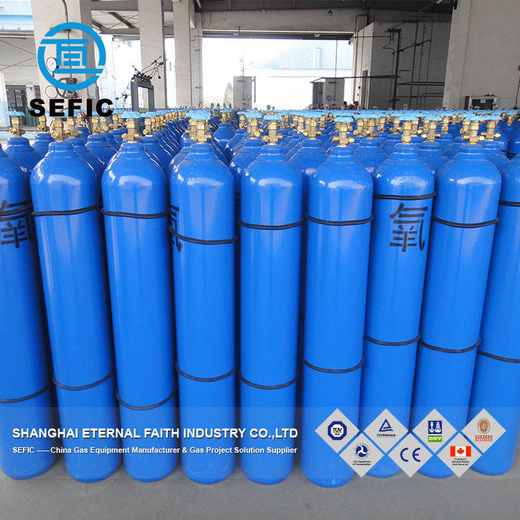 China Manufacturer ISO9809-3 40L Seamless Steel Sell Oxygen Gas Cylinder