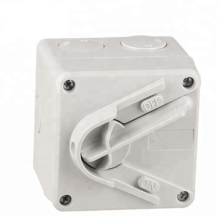 Outdoor IP66 2 P 20A Tipe Mini Weatherproof Mini Isolator Switch