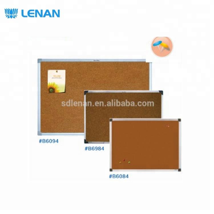 Customized size low price aluminium frame bulltin cork notice board decoration with accessories