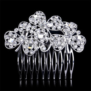 New Bridal Wedding Flower Pha Lê Rhinestone Haircomb Pearls Diamante Hair Clips Wedding Party Tiara Thái