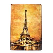 Paris France 3d embossed retro beer poster wall decor bar pub car metal tin signs home metal sign