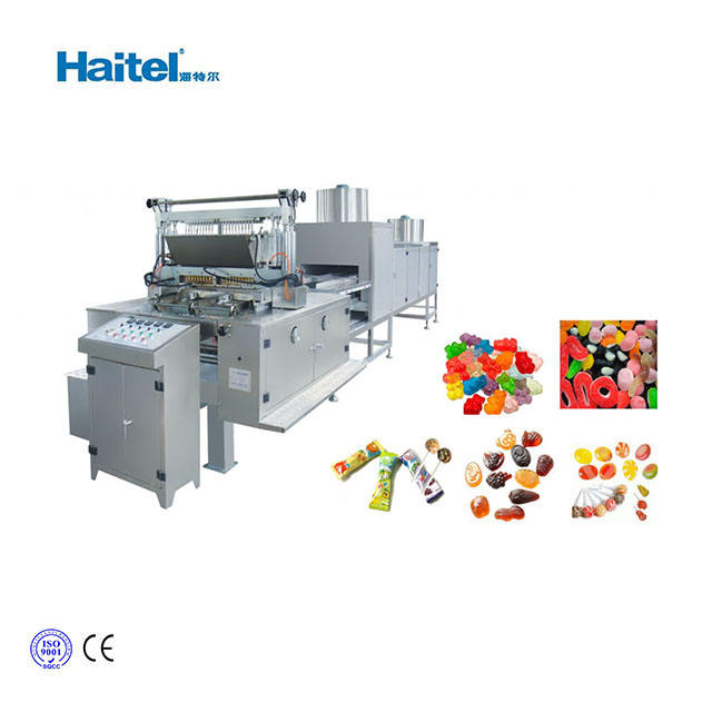 Commerical gelatin pectin small jelly gummy candy making machine /production line