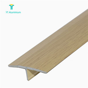 T-Strip Trim Aluminium Woodlike Threshold 26mm For Floor Divider Strip