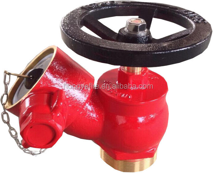 Oblique landing valve fire hydrant brass valve inlet threaded valve