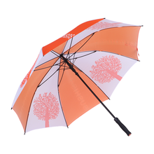 30 inches 8K fiberglass ribs auto open custom logo prints strong windproof high quality Chinese golf umbrella