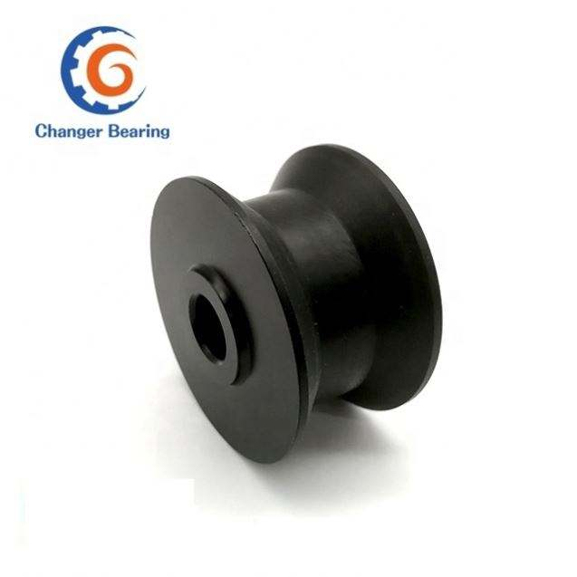 20*80*65mm H groove U groove roller wheel Nylon clad double bearing pulley