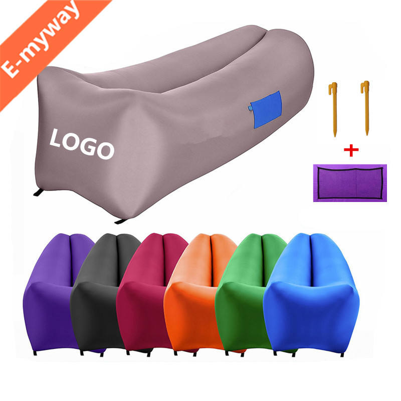 Instantly Inflatable Lounger Portable Inflated Outdoor Air Sofa, Durable Air- Bean Bag chill bag pouch couch