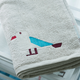 Made in China high quality cotton yarn jacquard weave Seagull stock bath towel 100% cotton