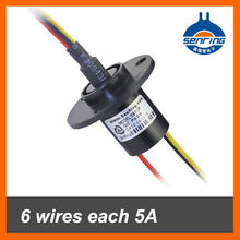Wind power generator low current 5A for 6 wires OD 22mm wind turbine slip ring