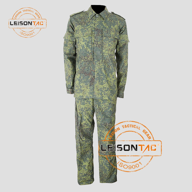 Outdoor Unisex ISO Standaard Militaire Marching Band Uniform, Camouflage Stof Militaire Uniform