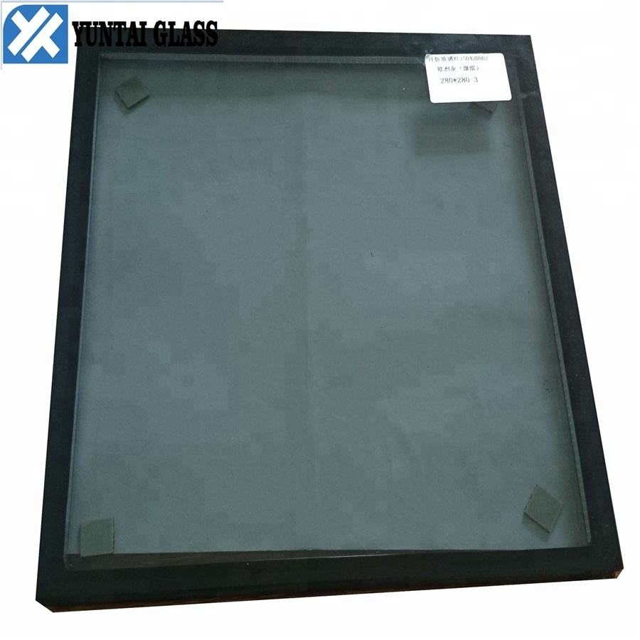 6+12A+6 Low-e argon gas tempered insulated glass from China factory