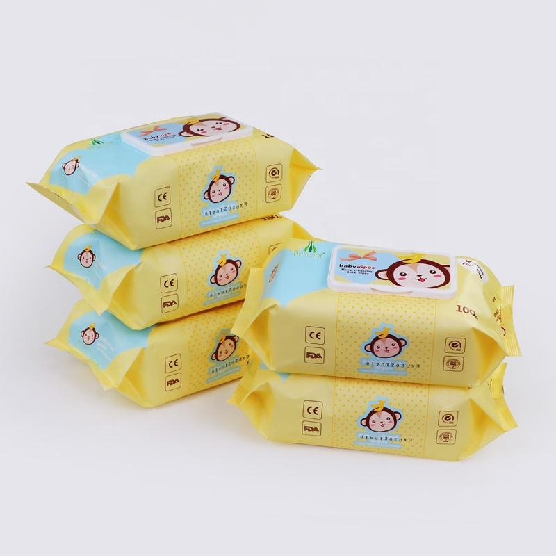 OEM Customised 99% Pure Water Biodegrabale Disposable Sensetive Comfort Baby Wipes