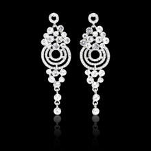 High quality charm silver gold plated earring wedding fashion jewellery earrings women
