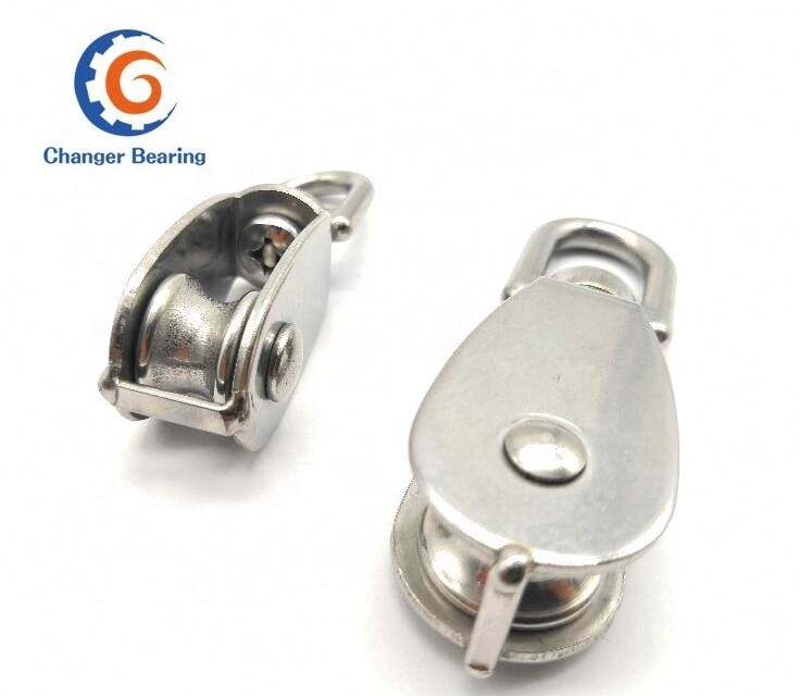 Custom stainless steel cast wire roller pulley rope pulley