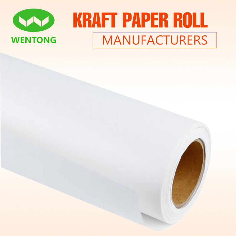 "Multipurpose kraft paper roll 48"" x 100ft,whtie/brown/black colour"