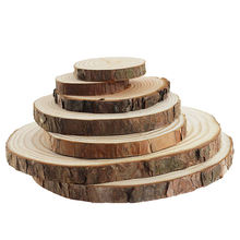 Hot sale wholesale Rustic DIY Natural Round Wood Pine Tree Slices For Wedding Centerpiece Craft