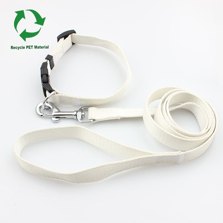 Eco friendly recycled material RPET organic dog collar leash set