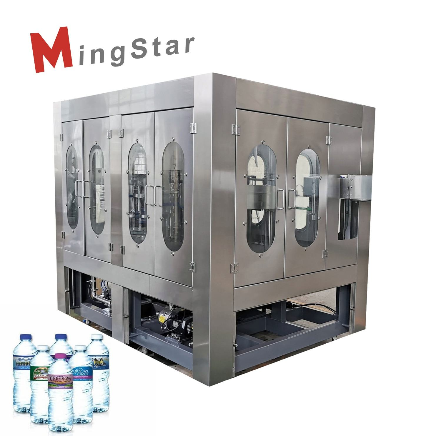 Full Automatic Three In One Water Bottle Washing Filling Capping 3 In 1 Machine