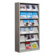 Metal school library book magazine racks