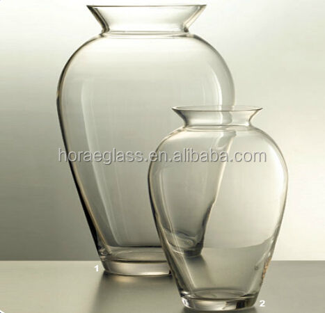 Tall and round weave flower vase clear glass vase for home decor