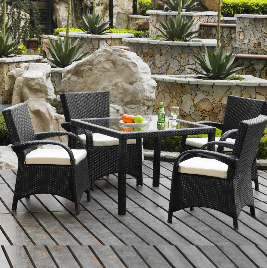 Best selling modern Supplier and Manufacturer outdoor cane table chair traditional Patio garden Wicker Rattan Dining furniture