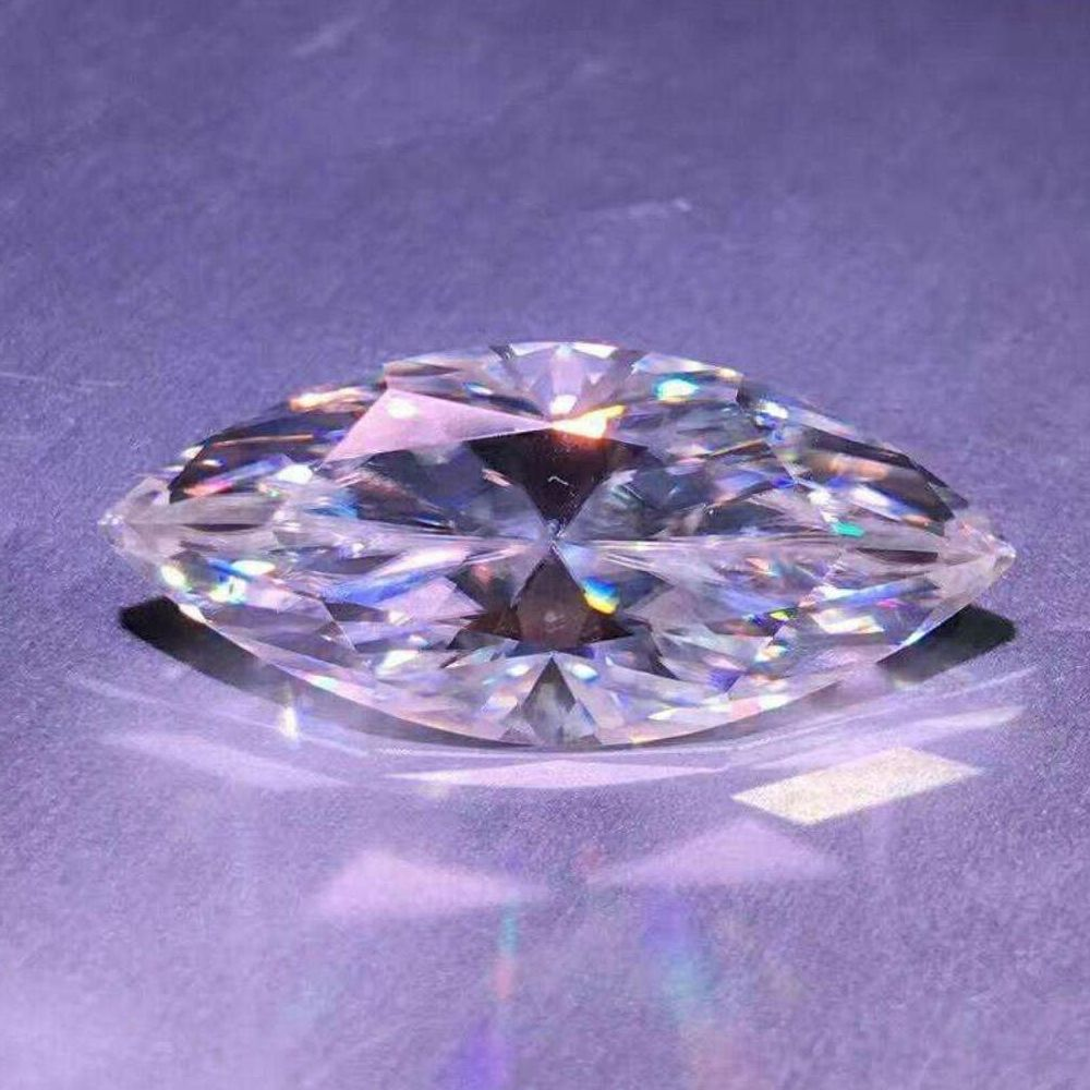 Wuzhou Gems wholesale moissanite marquise 4x8mm for ring setting