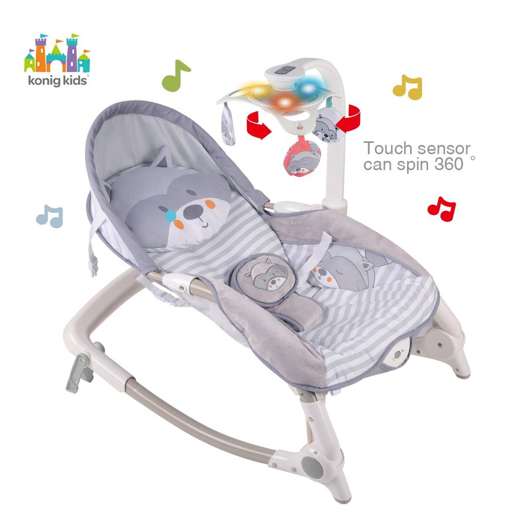 Newborn to Toddler Rocker Polyester Baby Bouncer Swing Multifunctional Baby Swing Rocker Bouncer