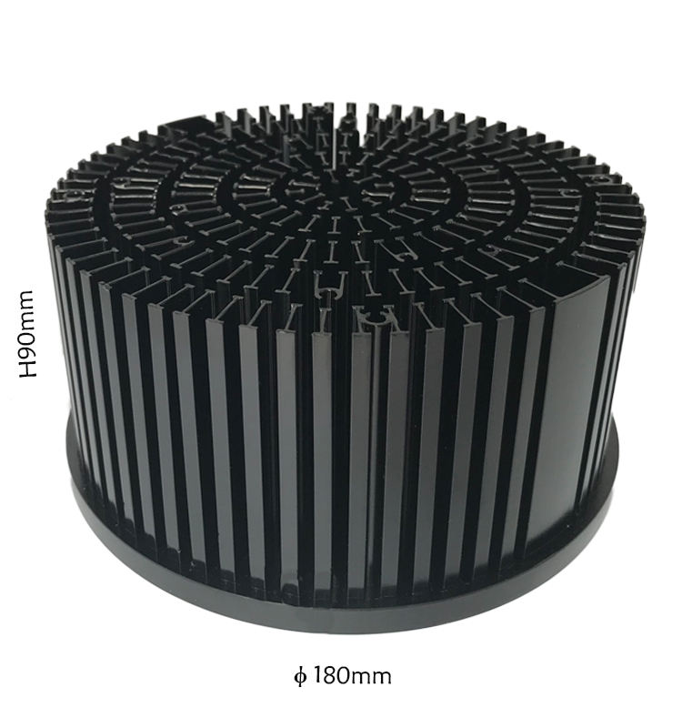 Round Pre-Drilled 100W Led Heatsink Radiator Led,Custom Aluminum 100W Led Heat Sink Design Aluminum