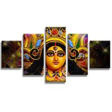 5 Panel Custom abstract 3d Golden Buddha face Canvas Print Painting Framed Home Decor Wall Art Poster picture for sale