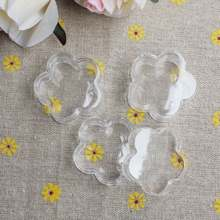 1.7*3.15CM & 1.7*3.7CM Small Plastic Box Cute Flower Shape Clear Case/Container