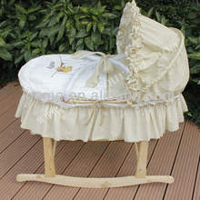 new design baby moses basket set with miffy embroidery
