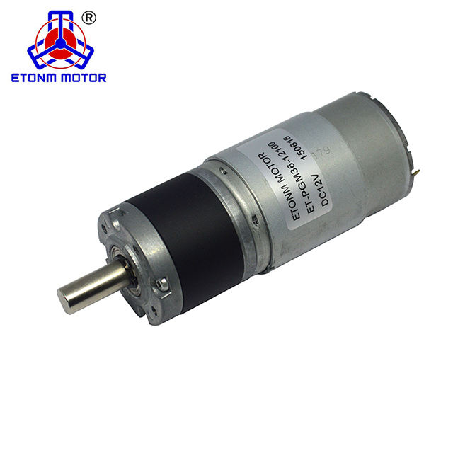 36mm planetary gear type dc 12v 24v encoder gear motor for tv lift