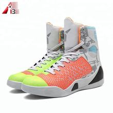Good quality custom made fashion high ankle basketball shoes