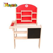 2019 New design grocery toys wooden toy supermarket for kids pretend play W10A096