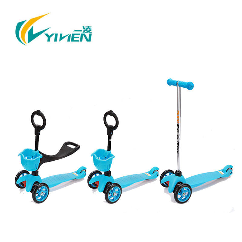 3 in 1 mini kick scooter, with seat push kids kick scooter