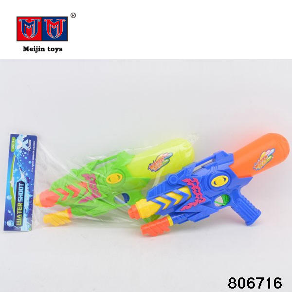 Newest colorful water shooter water gun toys in poly bag header for kids