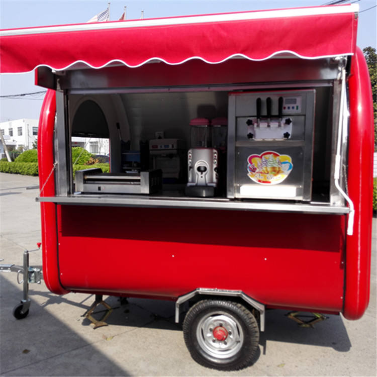 Street snack vending equipment coffee food trailer,hot dog carts,mobile food trucks for sale