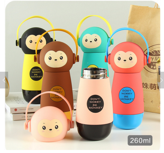 kid toy portable water bottle Stainless Steel water Bottle thermos vacuum Flask pet bottle