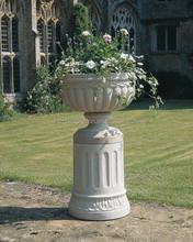 Tuscan urn stone flower planters