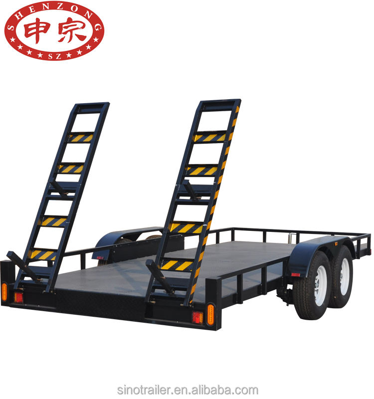 Special purpose voertuig voor towing trailer apparatuur flatbed trailer